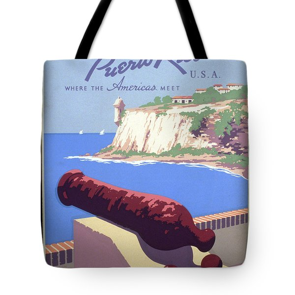 Puerto Rico Usa Tote Bag by Unknown