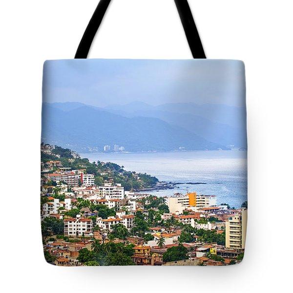 Puerto Vallarta On Mexican Coast Tote Bag by Elena Elisseeva