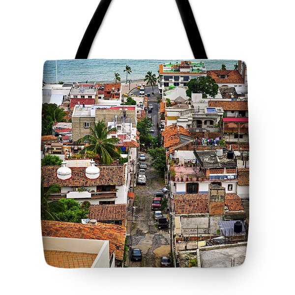 Puerto Vallarta Street Tote Bag by Elena Elisseeva
