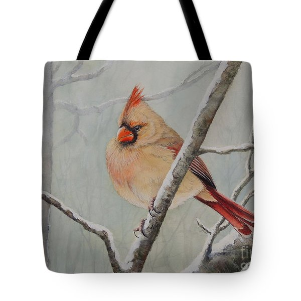 Puffed Up For Winters Wind Tote Bag