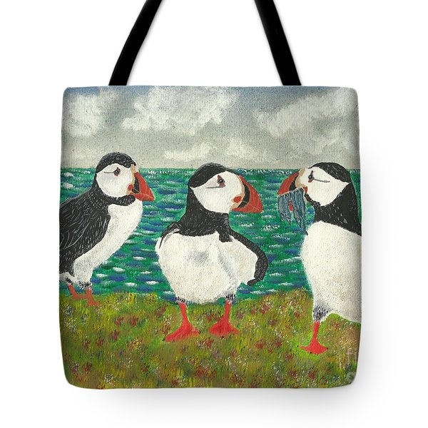 Puffin Island Tote Bag by John Williams