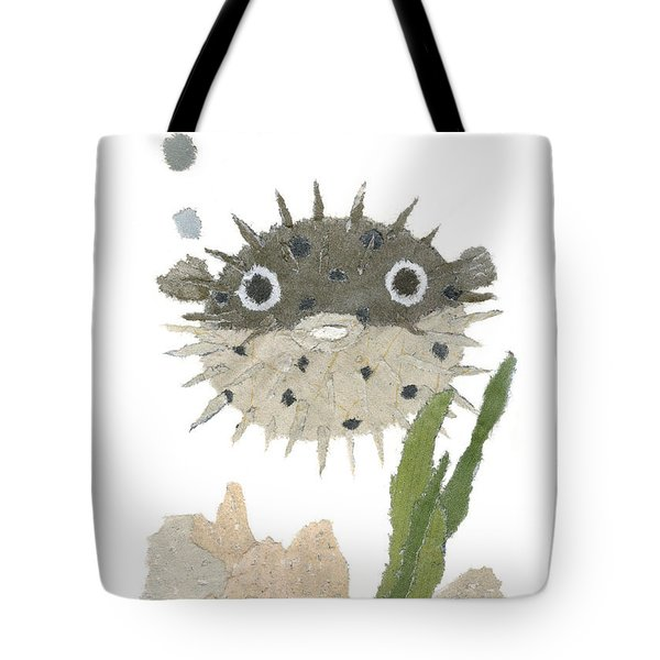 Blowfish Art Tote Bag by Keiko Suzuki