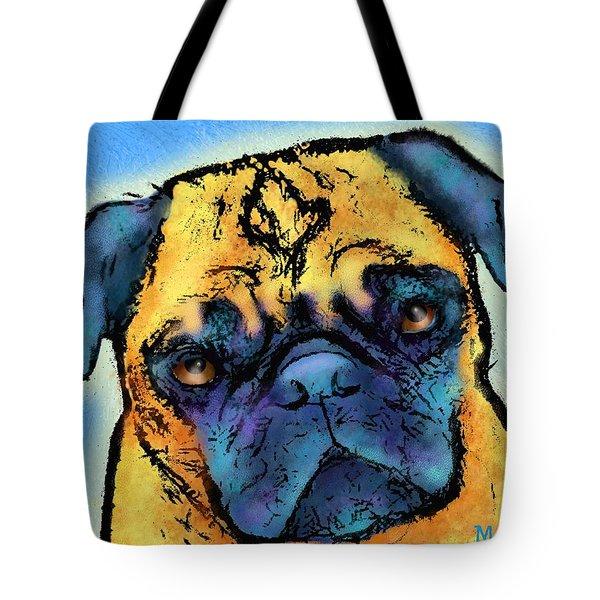 Pug Tote Bag by Marlene Watson