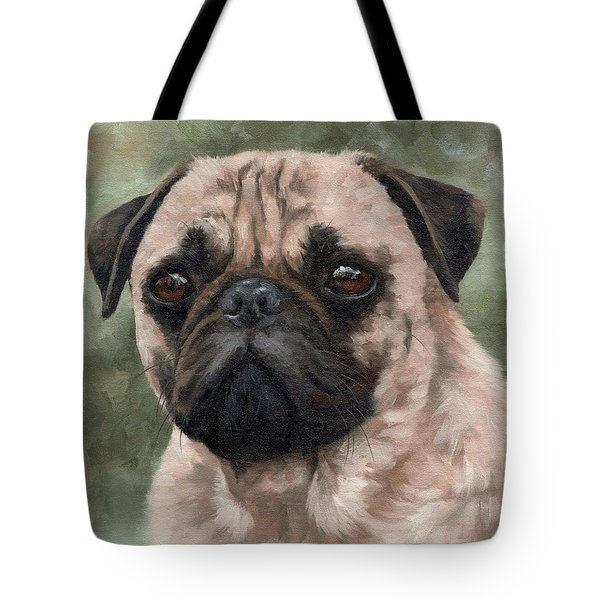 Pug Portrait Painting Tote Bag
