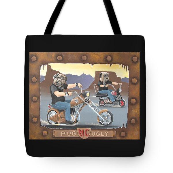 Pug Ugly M.c. Tote Bag