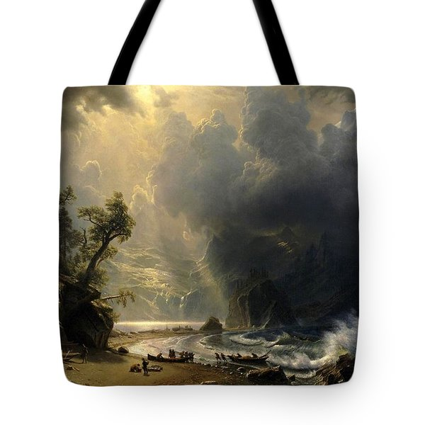 Puget Sound On The Pacific Coast Tote Bag by Albert Bierstadt