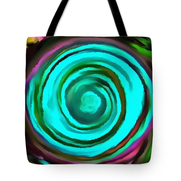 Tote Bag featuring the digital art Pulled by Catherine Lott