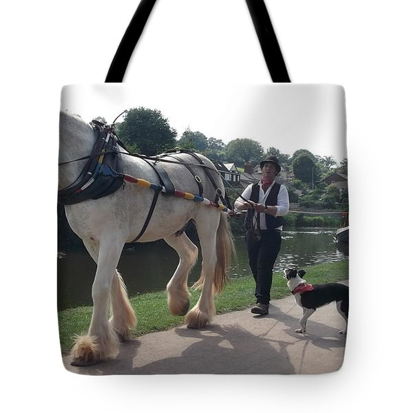 Pulling The Barge Tote Bag by John Williams