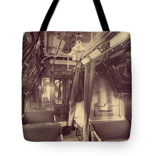Pullman Palace Sleeping Car 1870 Tote Bag by Getty Research Institute