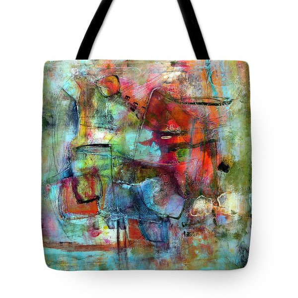 Tote Bag featuring the painting Pulse by Katie Black