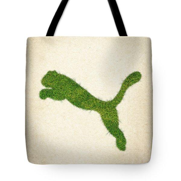 Puma Grass Logo Tote Bag by Aged Pixel
