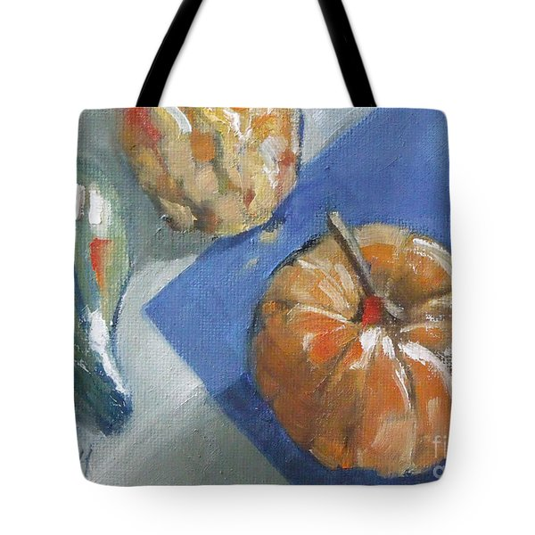 Pumpkin And Gourds Still Life Tote Bag