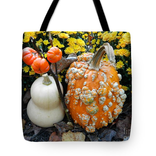 Pumpkin And Squash Tote Bag by Emmy Marie Vickers