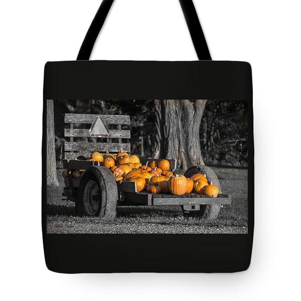 Pumpkin Cart Tote Bag