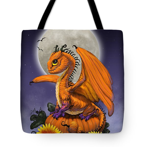 Pumpkin Dragon Tote Bag
