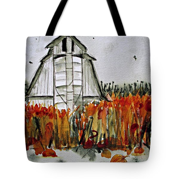 Pumpkin Dreams Tote Bag by Dawn Derman
