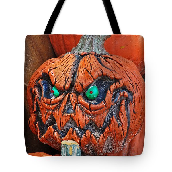 Pumpkin Face Tote Bag by Aimee L Maher Photography and Art Visit ALMGallerydotcom