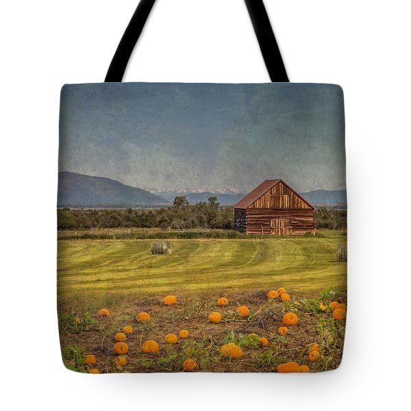 Pumpkin Field Moon Shack Tote Bag
