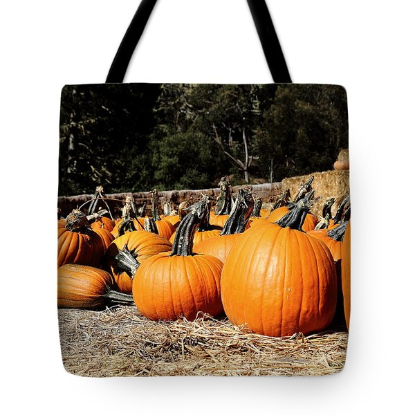 Pumpkin Goofing Off Tote Bag