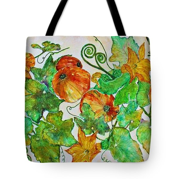 Pumpkin Harvest Time Tote Bag