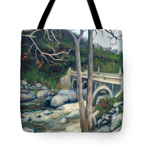 Pumpkin Hollow Bridge Tote Bag