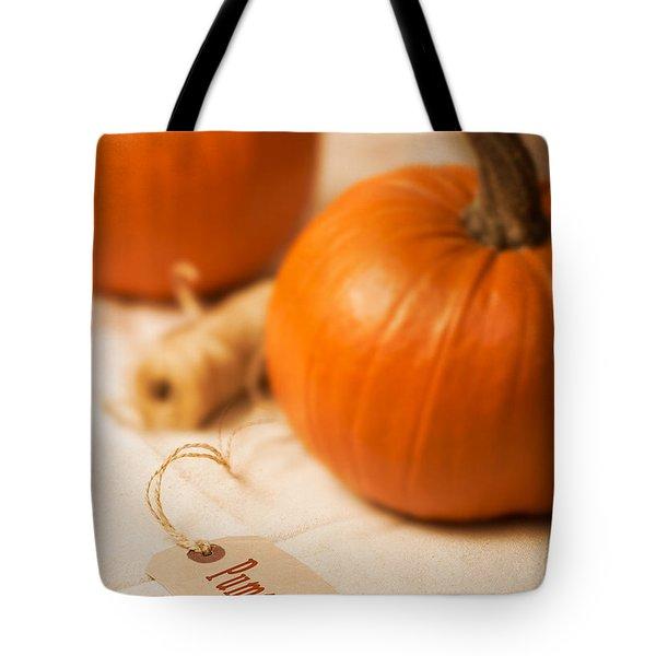 Pumpkin Label Tote Bag