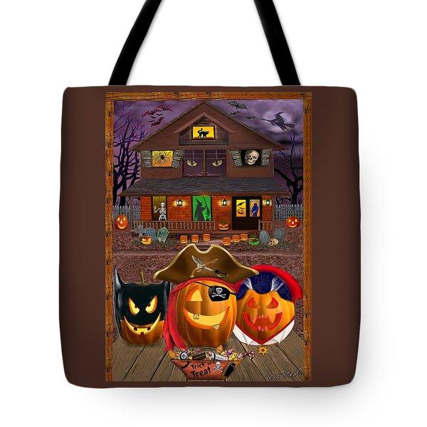 Pumpkin Masquerade Tote Bag by Glenn Holbrook