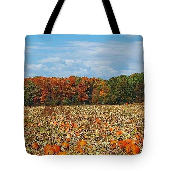Pumpkin Patch - Panorama Tote Bag