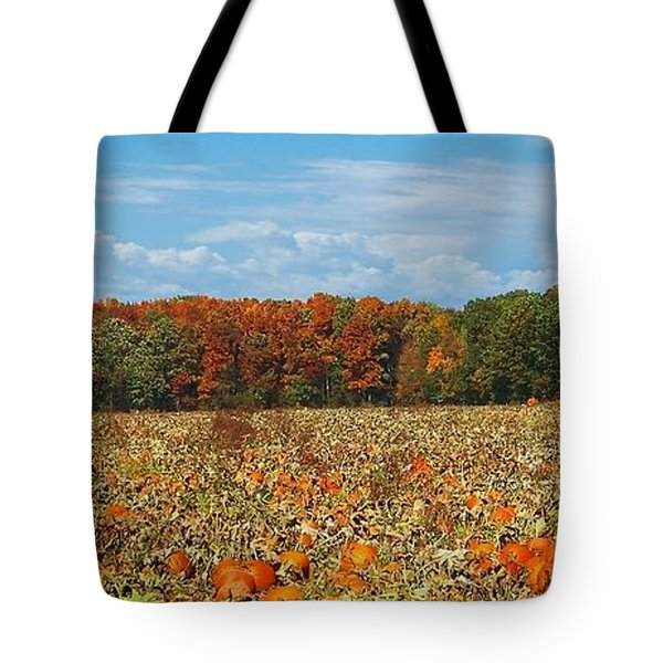 Pumpkin Patch - Panorama Tote Bag