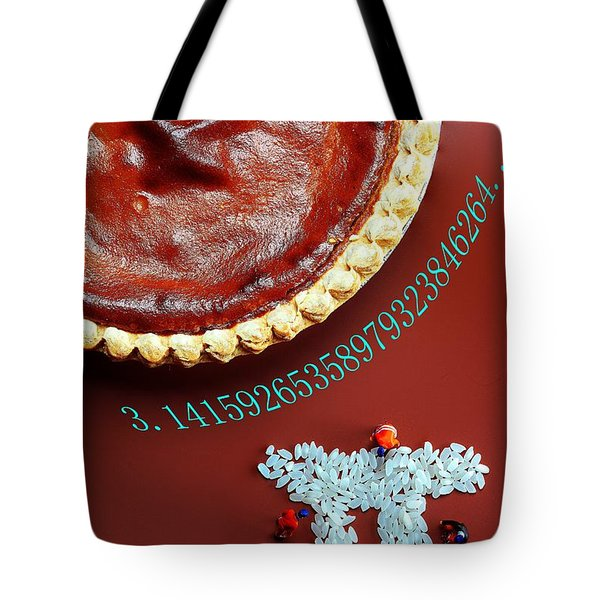 Tote Bag featuring the photograph Pumpkin Pie And Pi Food Physics by Paul Ge