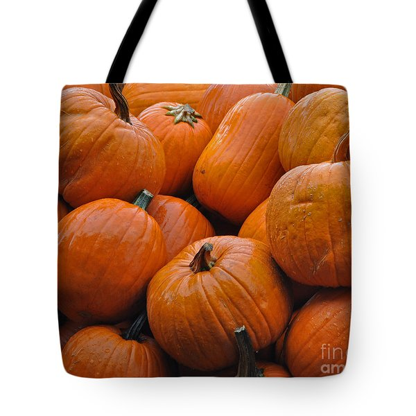 Tote Bag featuring the photograph Pumpkin Pile by Tikvah's Hope