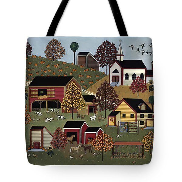 Pumpkin Season Tote Bag by Medana Gabbard