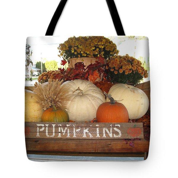 Pumpkin Welcome  Tote Bag