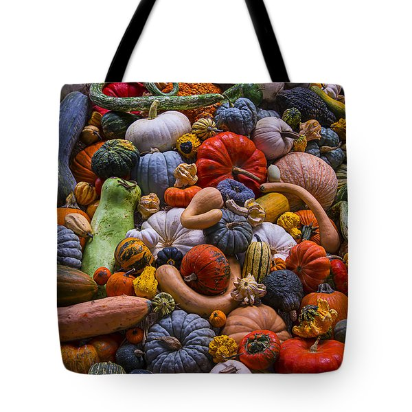 Pumpkins And Gourds Pile Tote Bag