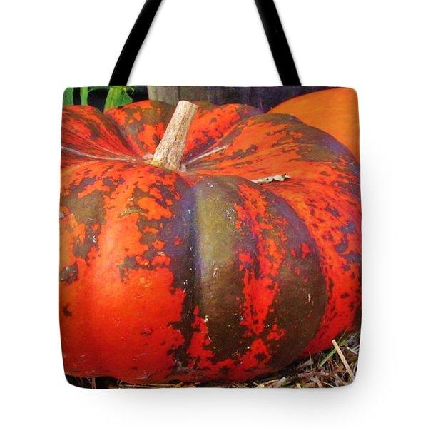 Tote Bag featuring the photograph Pumpkins by Cynthia Guinn