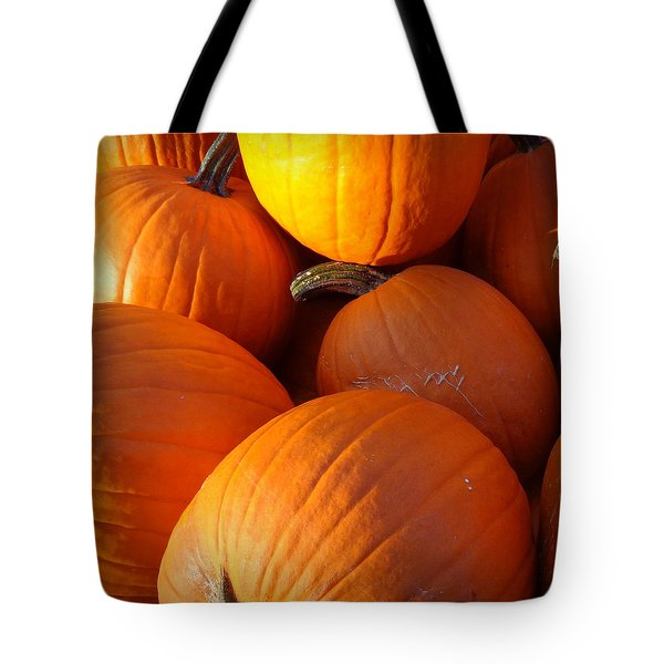 Tote Bag featuring the photograph Pumpkins by Joseph Skompski