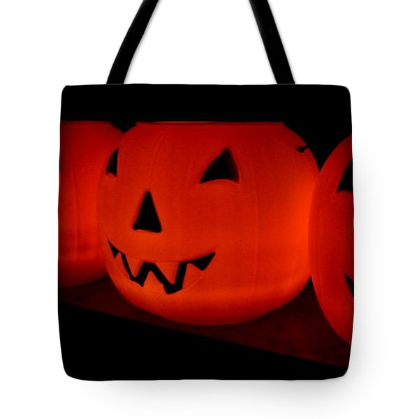 Pumpkins Lined Up Tote Bag