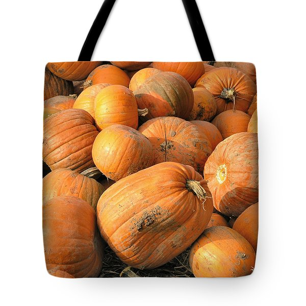 Tote Bag featuring the digital art Pumpkins by Ron Harpham