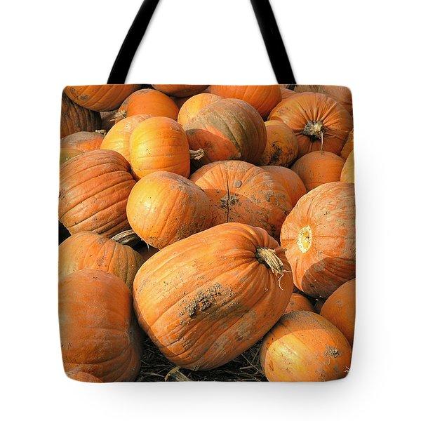 Pumpkins Tote Bag by Ron Harpham