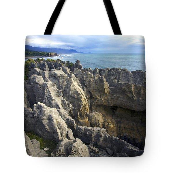 Tote Bag featuring the photograph Punakaiki Pancake Rocks #2 by Stuart Litoff