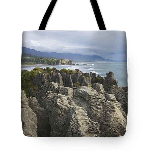 Tote Bag featuring the photograph Punakaiki Pancake Rocks by Stuart Litoff