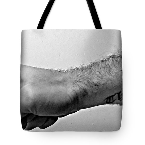 Punch A Wall Tote Bag