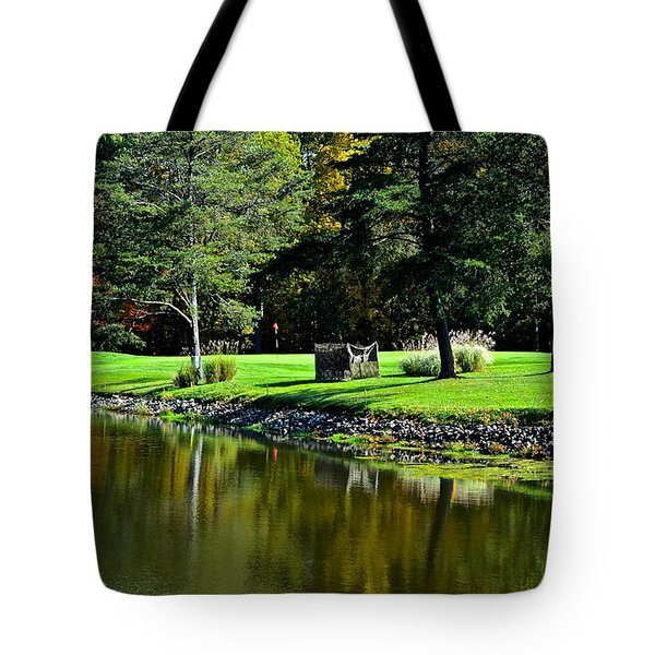 Punderson Golf Course Tote Bag by Frozen in Time Fine Art Photography