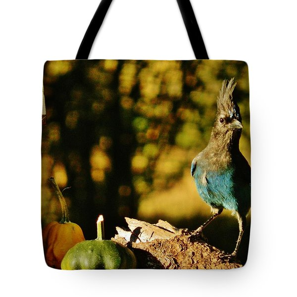 Punked-out Jay Tote Bag