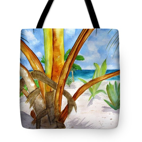 Punta Cana Beach Palm Tote Bag