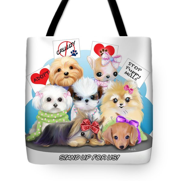 Puppies Manifesto Tote Bag by Catia Cho