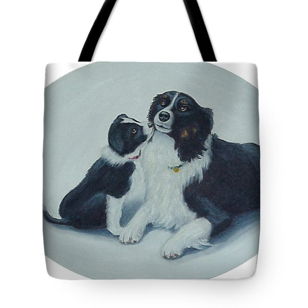 Puppy Kisses Tote Bag