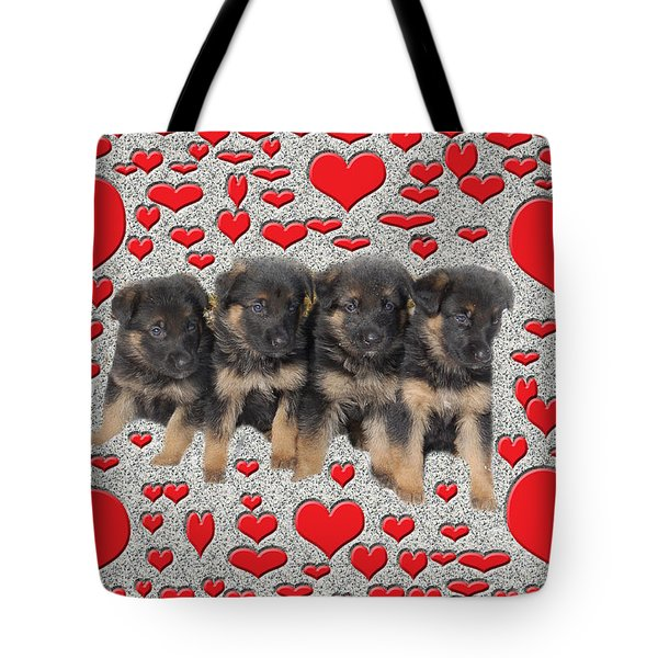 Puppy Love Tote Bag by Aimee L Maher Photography and Art Visit ALMGallerydotcom