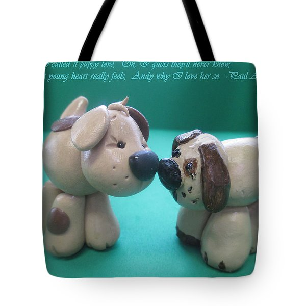 Puppy Love Tote Bag by Barbara Snyder