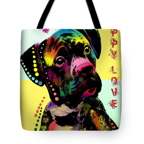 Puppy Love Tote Bag by Mark Ashkenazi
